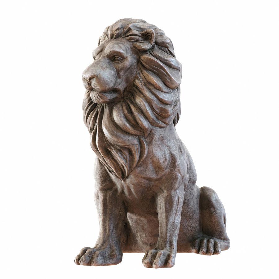Lion Sculpture 3 royalty-free 3d model - Preview no. 4