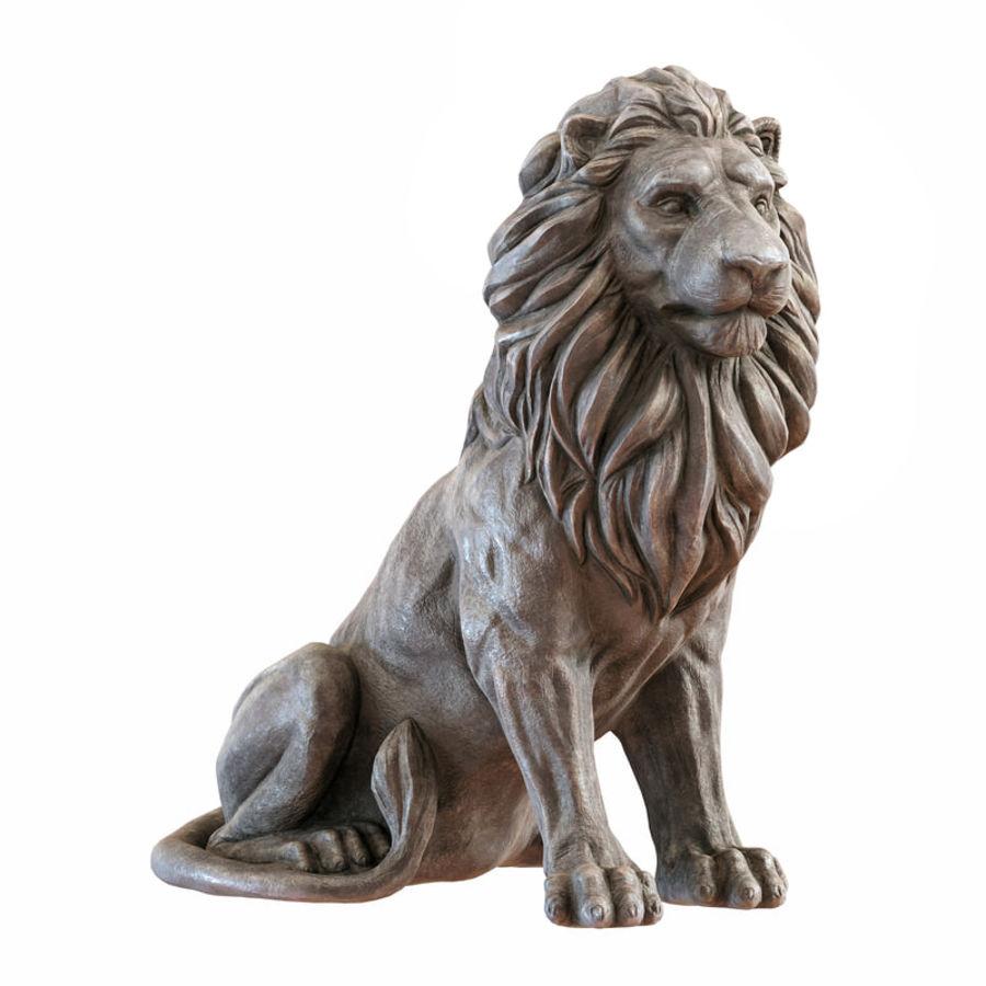 Lion Sculpture 3 royalty-free 3d model - Preview no. 1