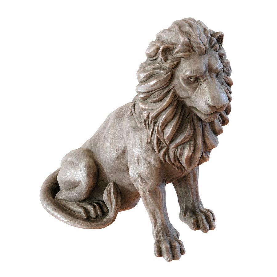 Lion Sculpture 3 royalty-free 3d model - Preview no. 6