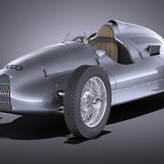 Auto Union Type D 1938 race car 3d model