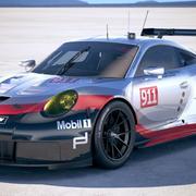 Porsche 911 RSR 2017 3d model