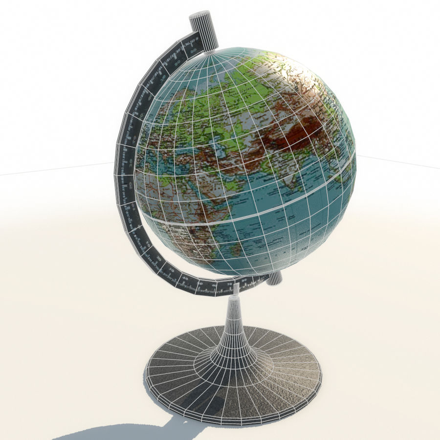 Modern Globe low poly royalty-free 3d model - Preview no. 7