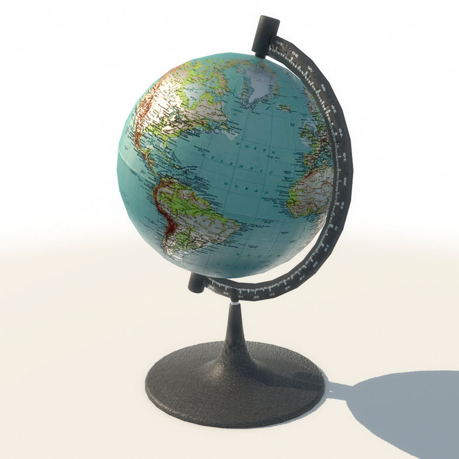 Modern Globe low poly royalty-free 3d model - Preview no. 8