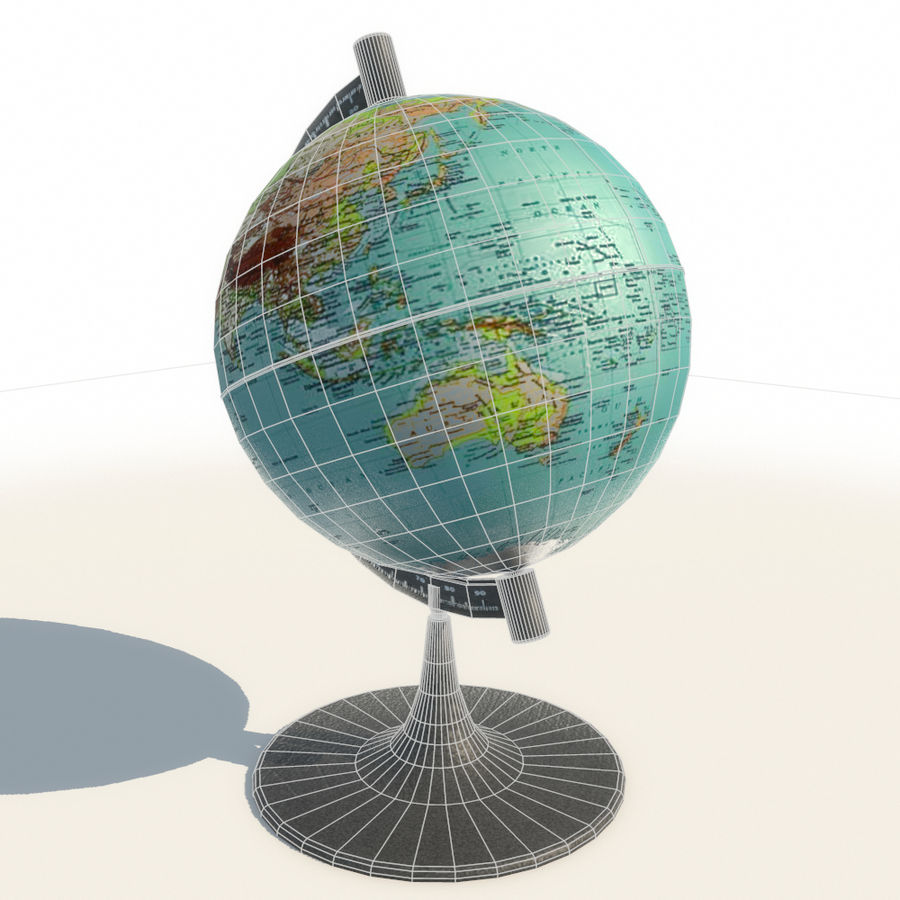 Modern Globe low poly royalty-free 3d model - Preview no. 5