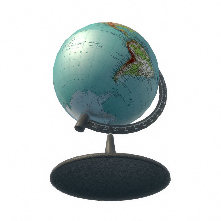 Modern Globe low poly royalty-free 3d model - Preview no. 10