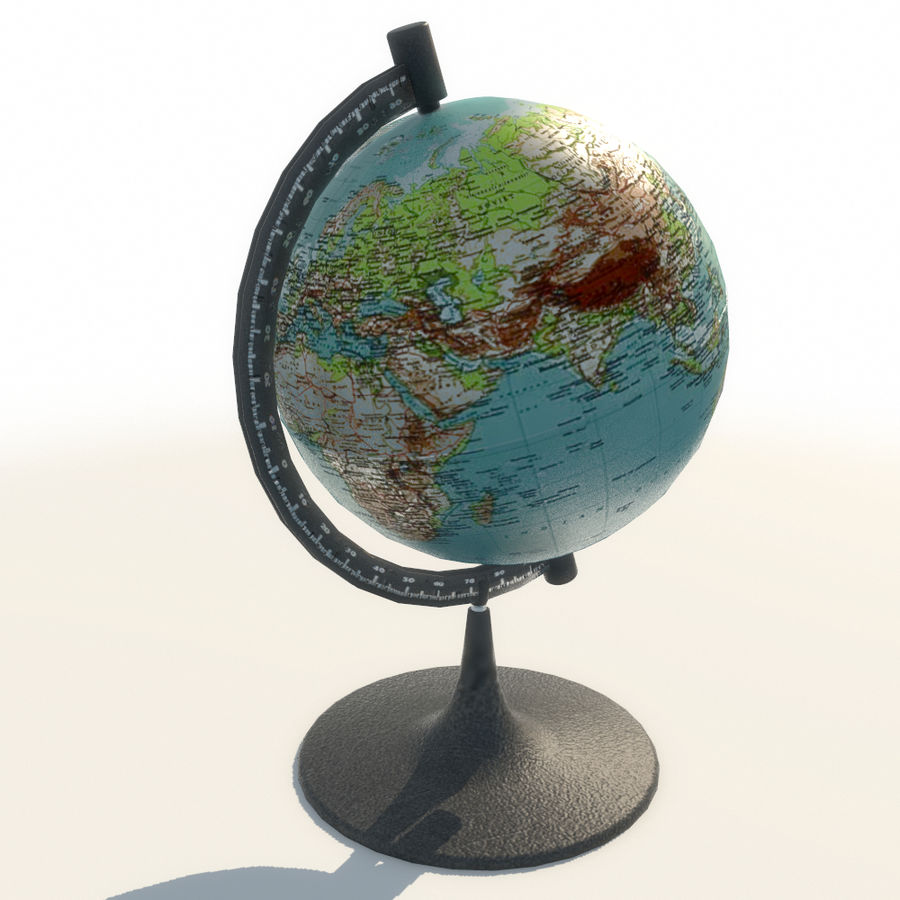 Modern Globe low poly royalty-free 3d model - Preview no. 6