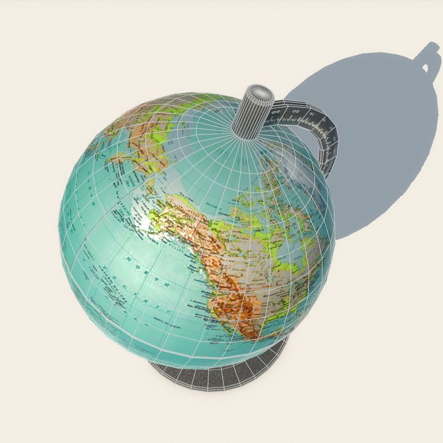 Modern Globe low poly royalty-free 3d model - Preview no. 12