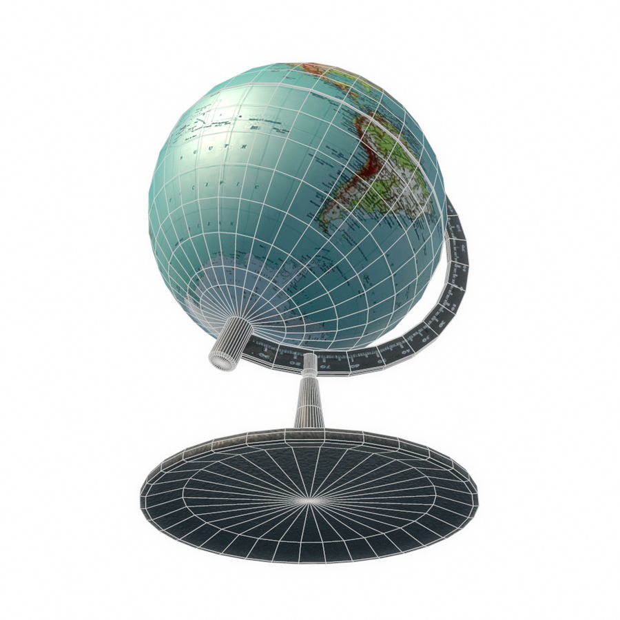 Modern Globe low poly royalty-free 3d model - Preview no. 11