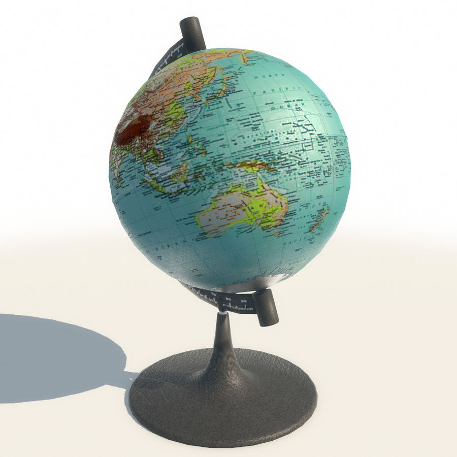 Modern Globe low poly royalty-free 3d model - Preview no. 4