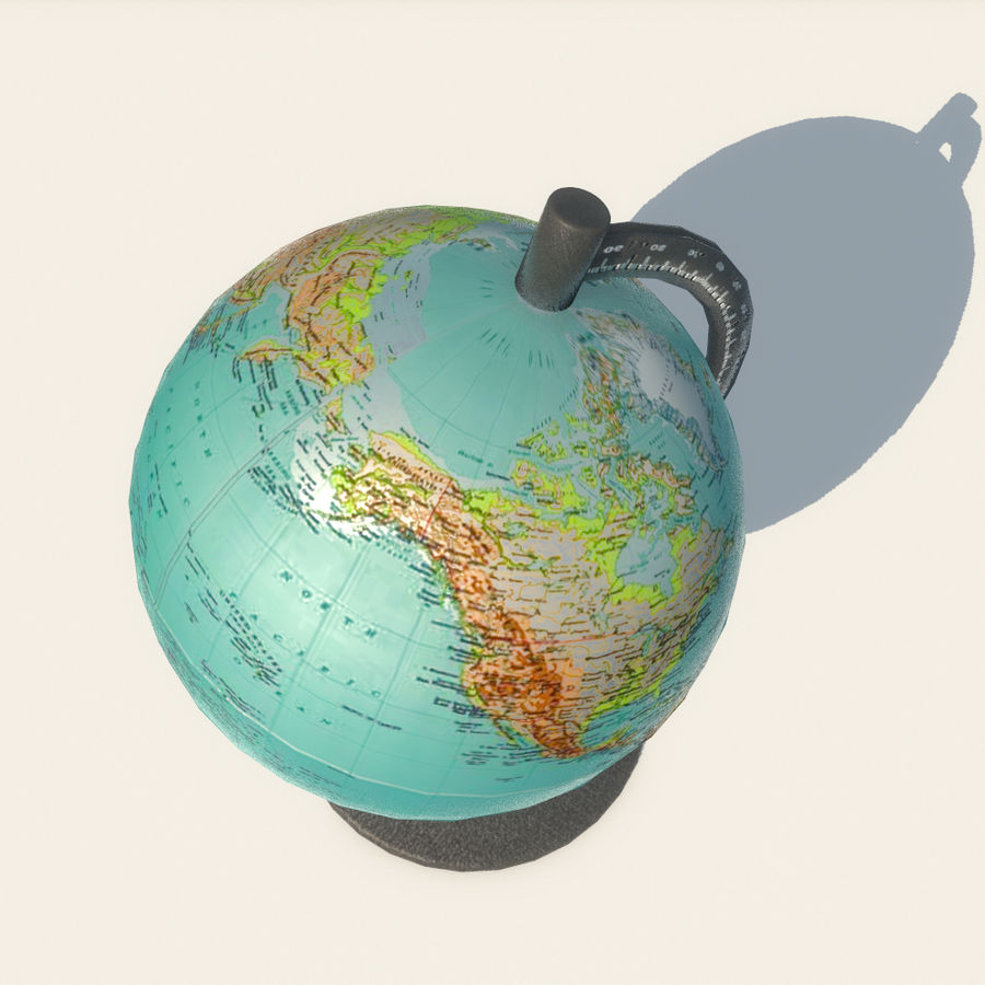 Modern Globe low poly royalty-free 3d model - Preview no. 13