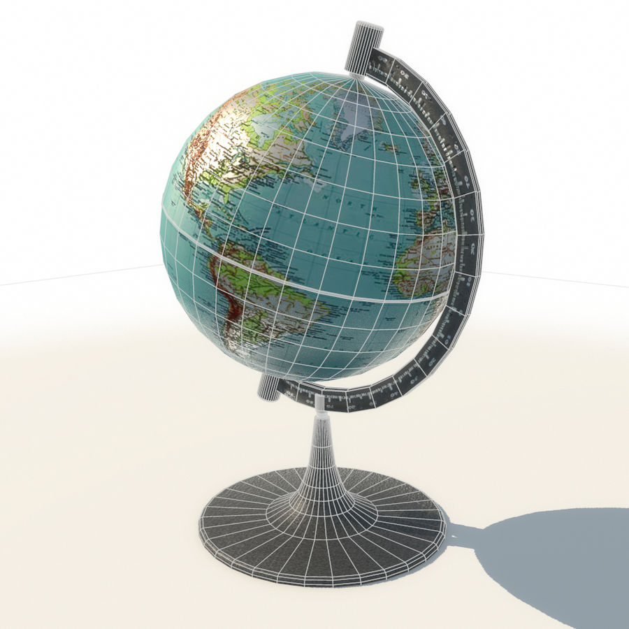 Modern Globe low poly royalty-free 3d model - Preview no. 9