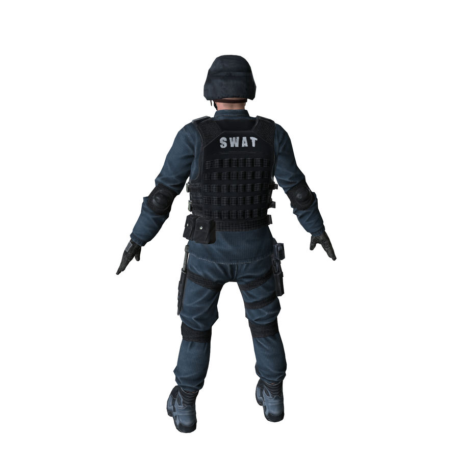 SWAT character (Rigged) royalty-free 3d model - Preview no. 9