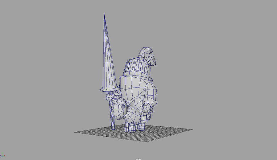 Knight animated character royalty-free 3d model - Preview no. 4
