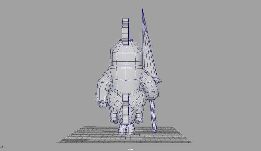 Knight animated character royalty-free 3d model - Preview no. 5