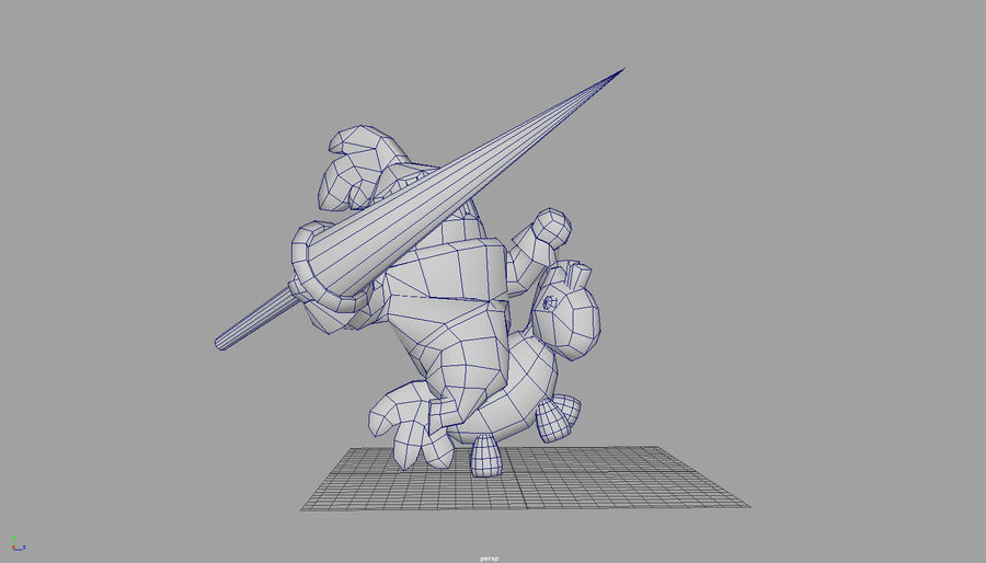 Knight animated character royalty-free 3d model - Preview no. 6