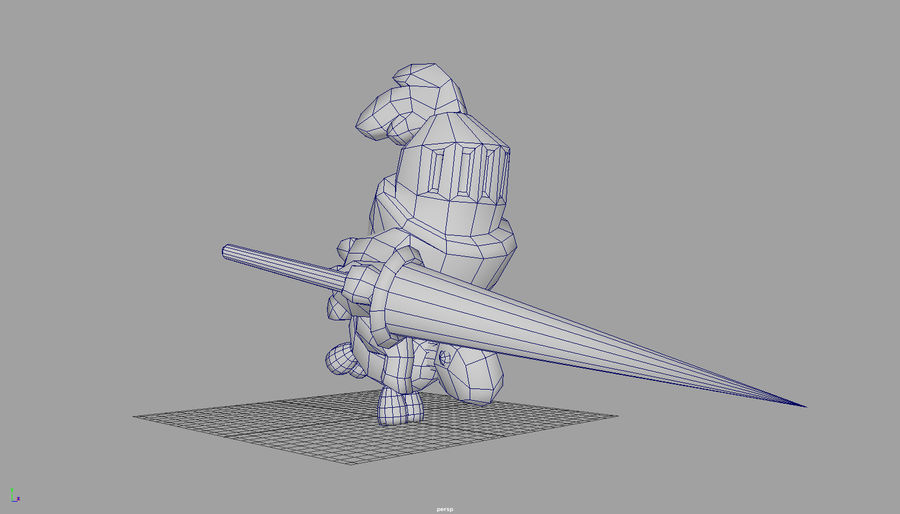 Knight animated character royalty-free 3d model - Preview no. 3