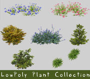 LowPoly Plant Collection 3d model