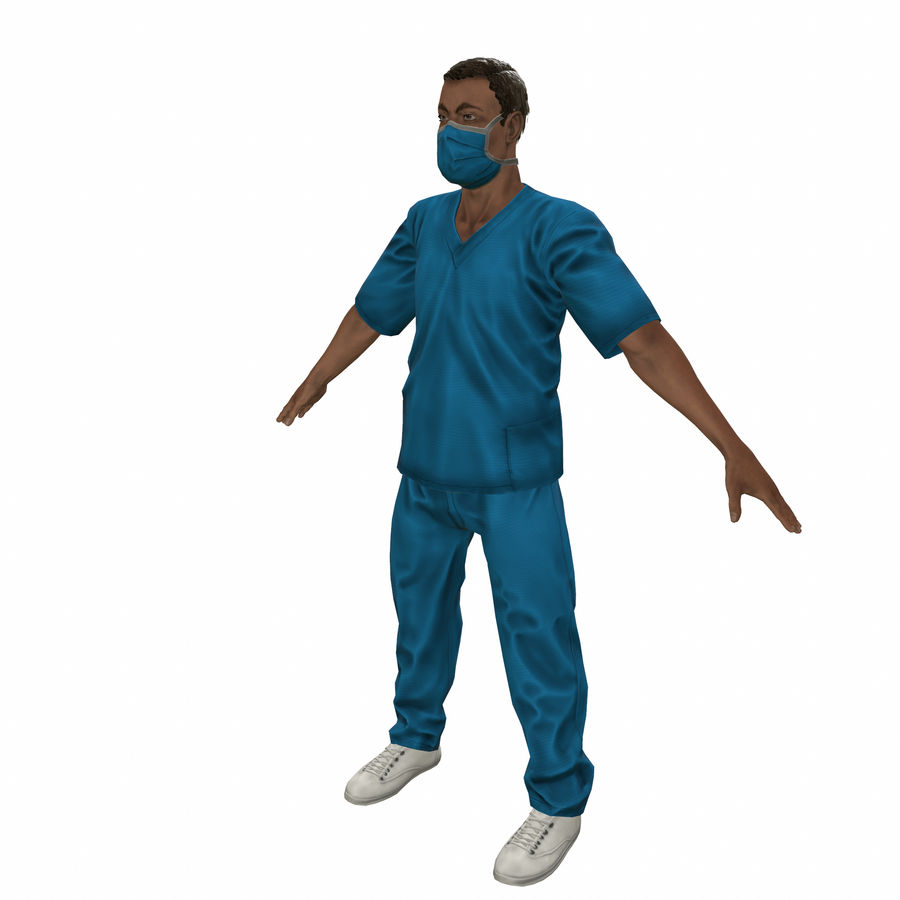 American Medical Man (Rigged)) royalty-free 3d model - Preview no. 2