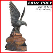 Statuette of Eagle 3d model