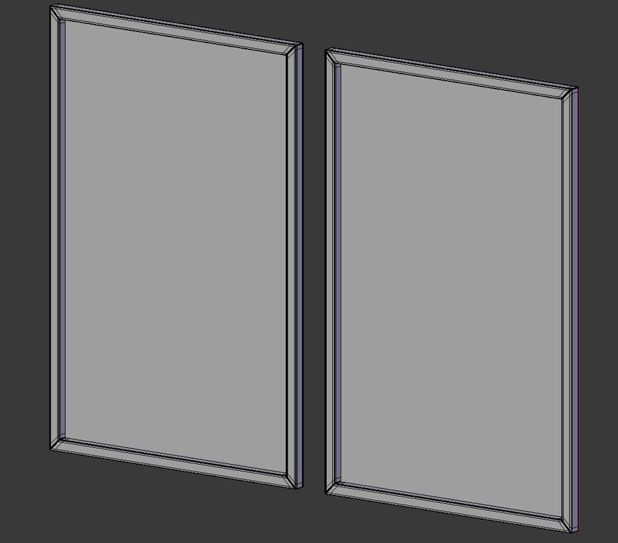 Picture Frames - City maps royalty-free 3d model - Preview no. 8