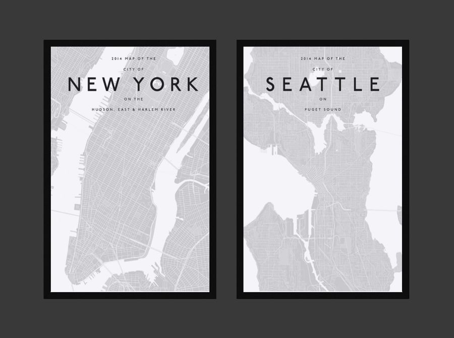 Picture Frames - City maps royalty-free 3d model - Preview no. 5