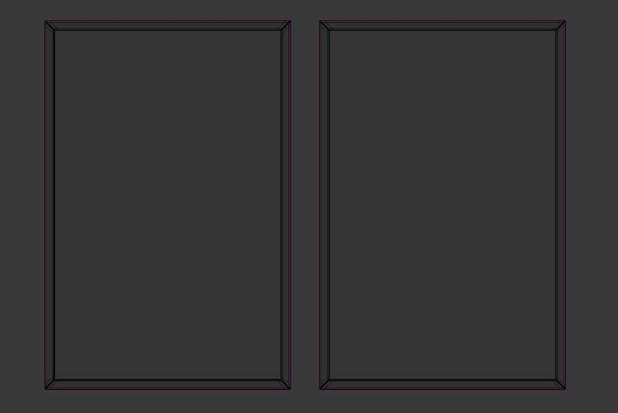 Picture Frames - City maps royalty-free 3d model - Preview no. 7
