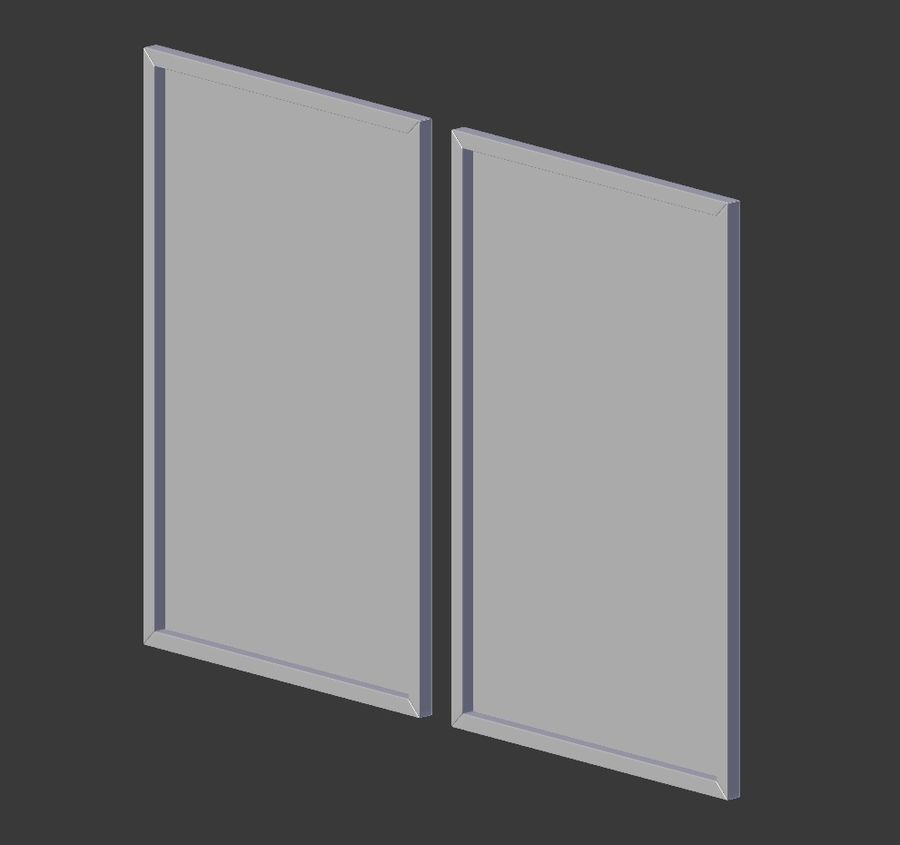 Picture Frames - City maps royalty-free 3d model - Preview no. 4