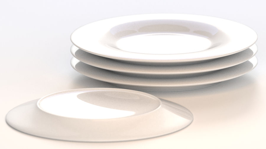 Klassische Keramikplatte royalty-free 3d model - Preview no. 5