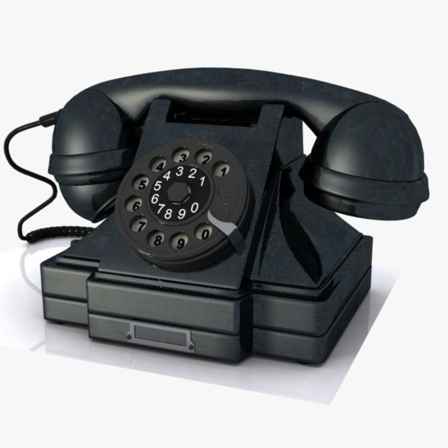 Vintage Phone royalty-free 3d model - Preview no. 1