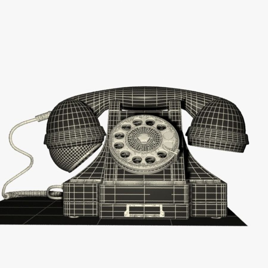 Vintage Phone royalty-free 3d model - Preview no. 16