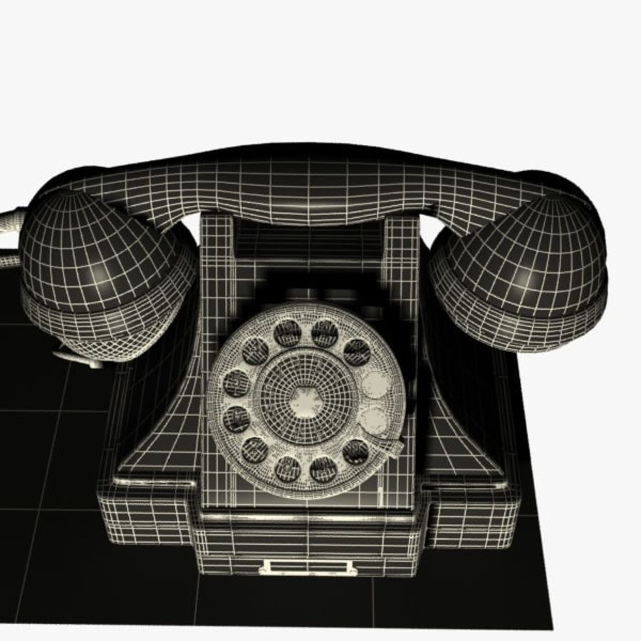 Vintage Phone royalty-free 3d model - Preview no. 11