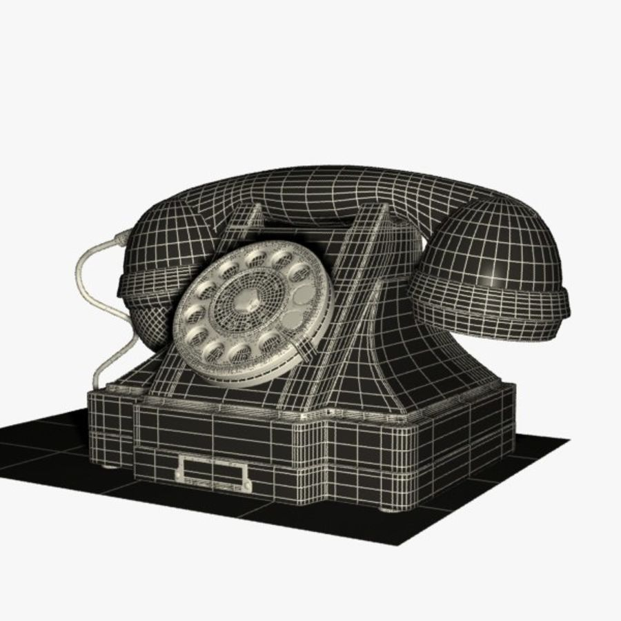 Vintage Phone royalty-free 3d model - Preview no. 14