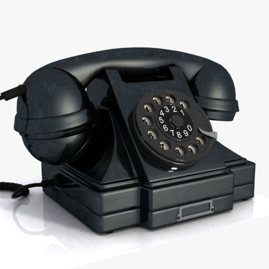 Vintage Phone royalty-free 3d model - Preview no. 7