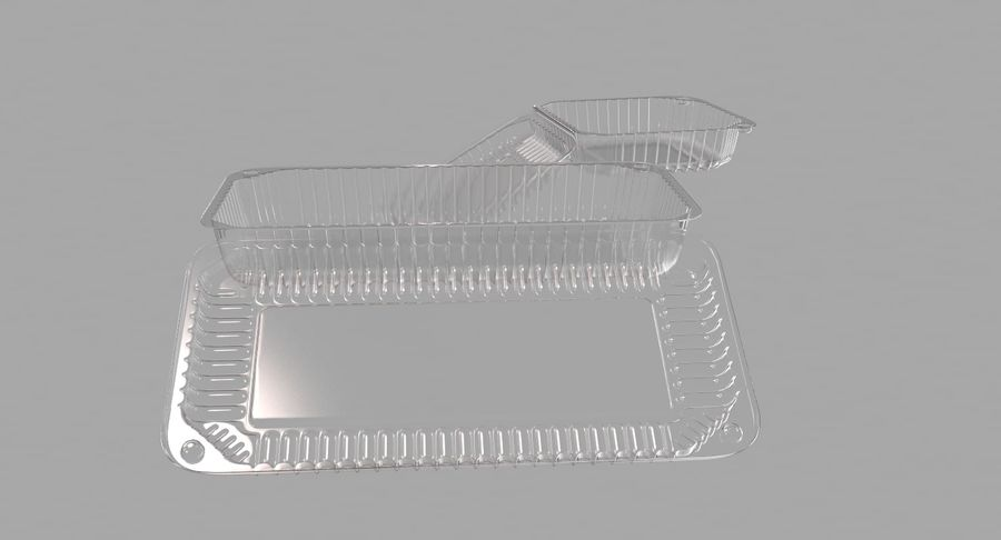 Plastic food containers royalty-free 3d model - Preview no. 7