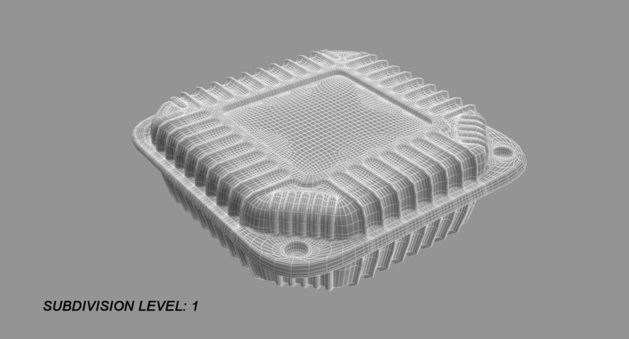 Plastic food containers royalty-free 3d model - Preview no. 10