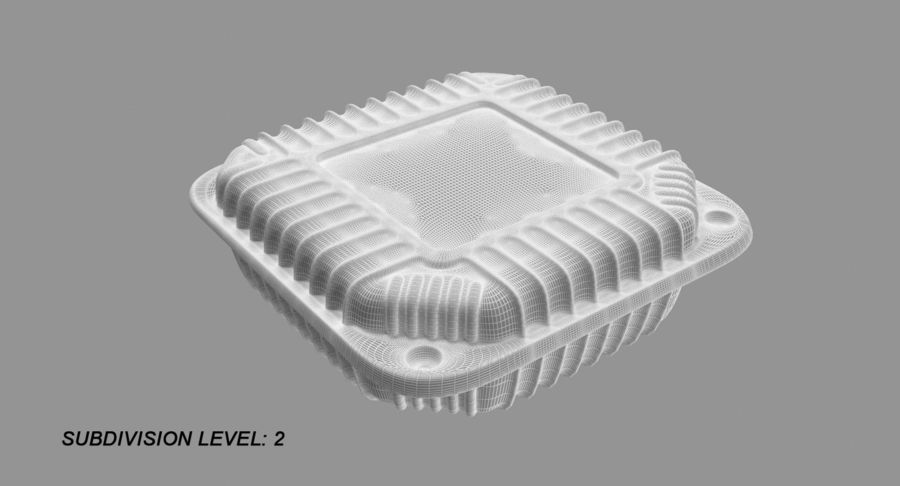 Plastic food containers royalty-free 3d model - Preview no. 11