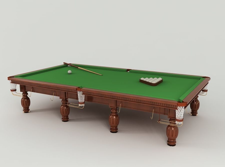 Pool Table royalty-free 3d model - Preview no. 2