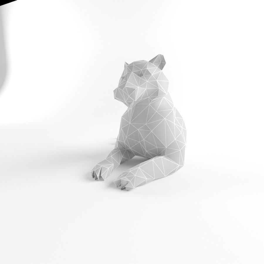 Tiger and Lion Low Poly Mammal Wild Africa Animal Lowpoly royalty-free 3d model - Preview no. 2