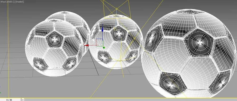 Soccer Ball Football royalty-free 3d model - Preview no. 5