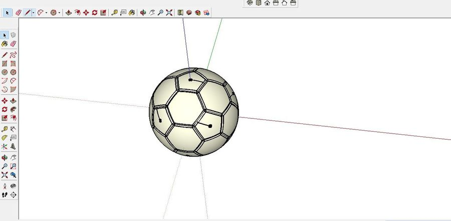 Soccer Ball Football royalty-free 3d model - Preview no. 4