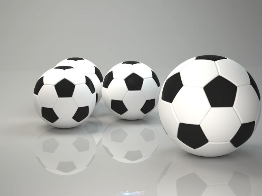 Soccer Ball Football royalty-free 3d model - Preview no. 6