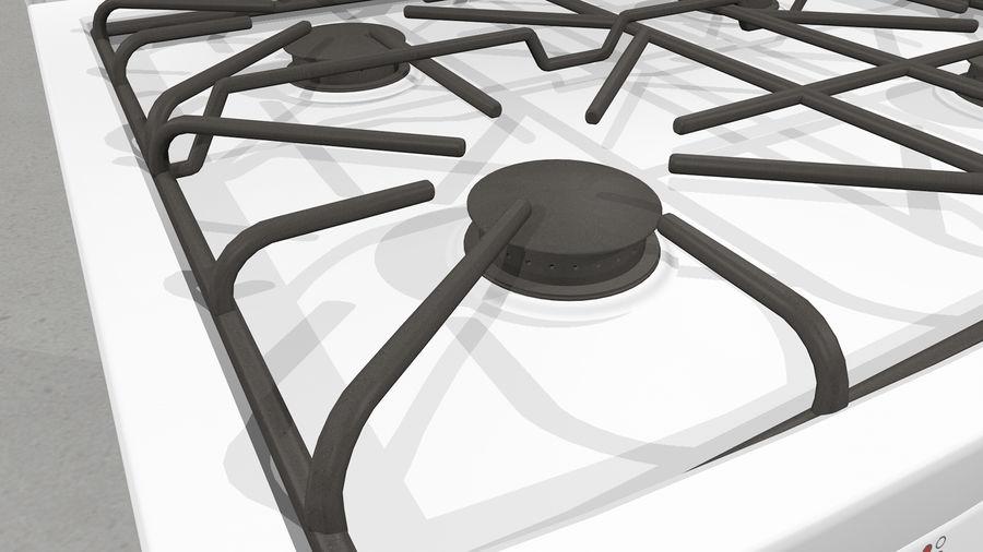 Cocina de gas / estufa royalty-free modelo 3d - Preview no. 13