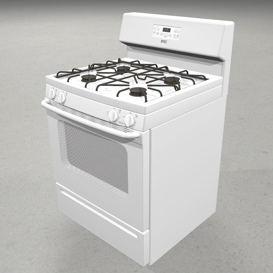 Cocina de gas / estufa royalty-free modelo 3d - Preview no. 1
