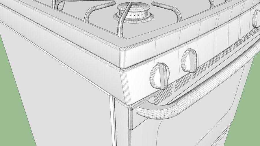 Cocina de gas / estufa royalty-free modelo 3d - Preview no. 19