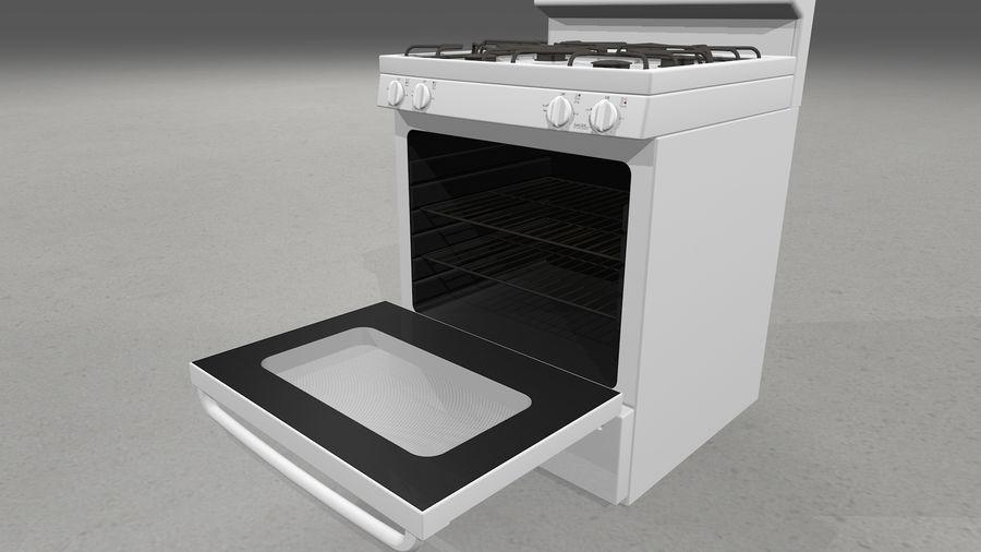Cocina de gas / estufa royalty-free modelo 3d - Preview no. 10