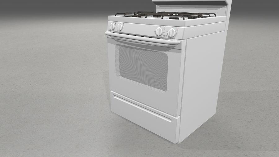 Cocina de gas / estufa royalty-free modelo 3d - Preview no. 9
