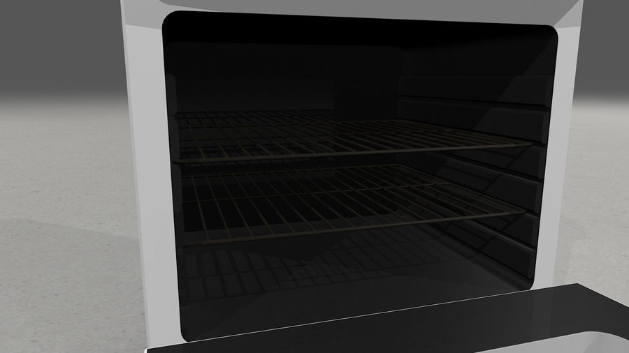 Cocina de gas / estufa royalty-free modelo 3d - Preview no. 12
