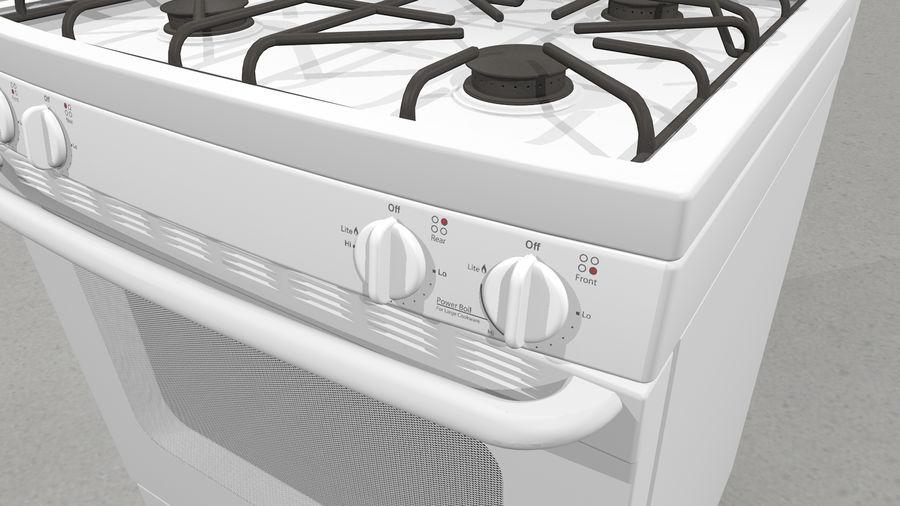 Cocina de gas / estufa royalty-free modelo 3d - Preview no. 6