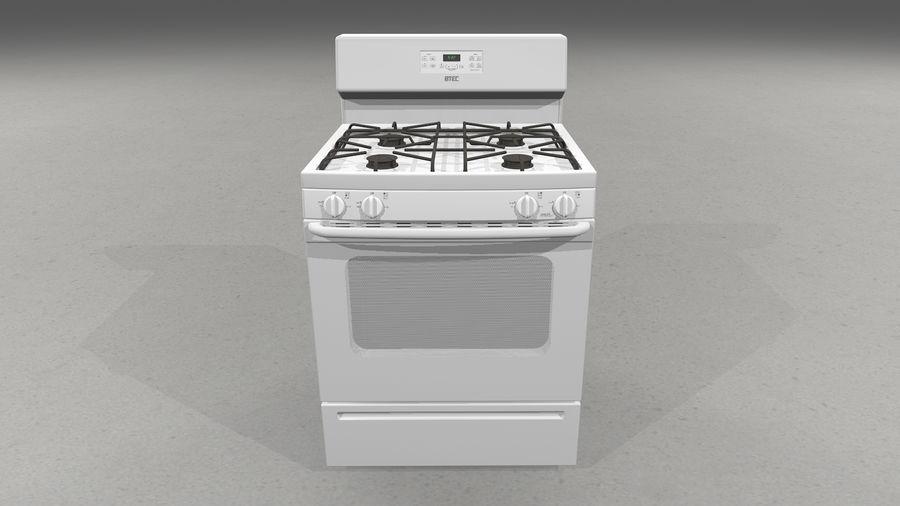 Cocina de gas / estufa royalty-free modelo 3d - Preview no. 3