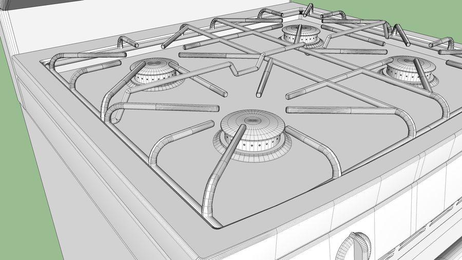 Cocina de gas / estufa royalty-free modelo 3d - Preview no. 20
